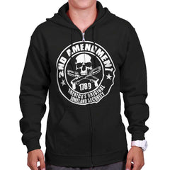 Black| Original Homeland Security Zip Hoodie|Tactical Tees