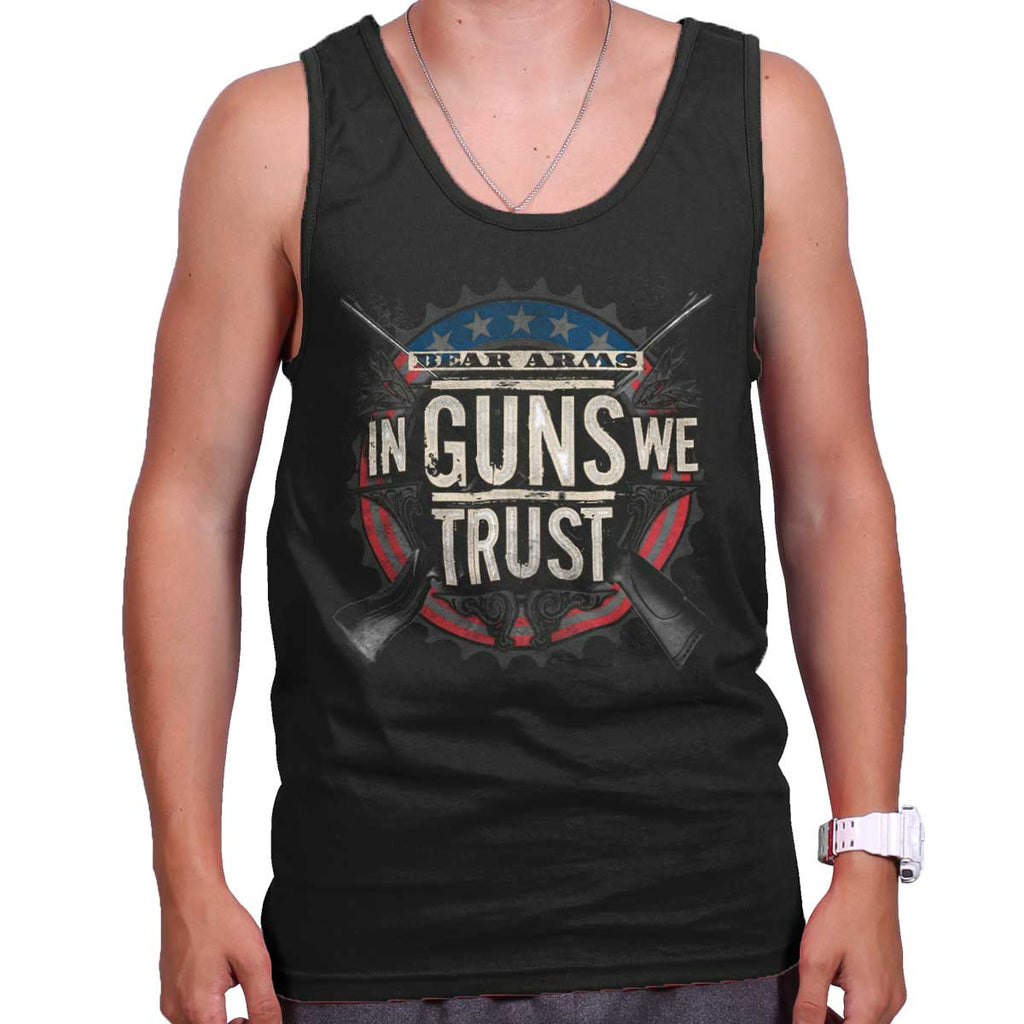 Black|In Guns We Trust Tank Top|Tactical Tees
