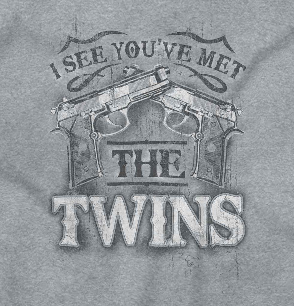 SportGrey2|I See Youve Met The Twins Junior Fit V-Neck T-Shirt|Tactical Tees