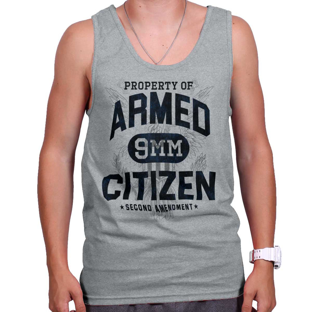 SportGrey|Armed Citizen Tank Top|Tactical Tees