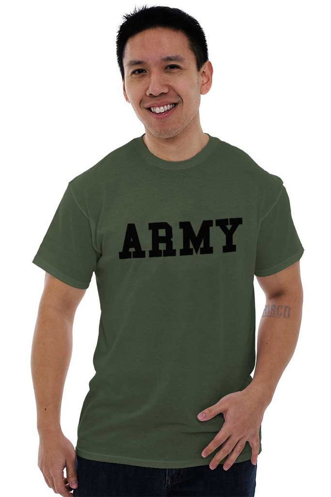 Male_MilitaryGreen1|Army Logo T-Shirt|Tactical Tees
