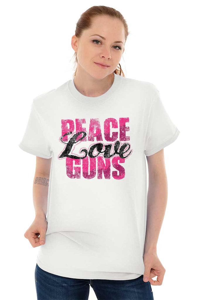 Female_White2|Peace Love Guns T-Shirt|Tactical Tees