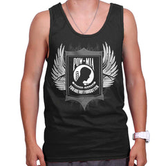 Black|POW MIA You Are Not Forgotten Tank Top|Tactical Tees