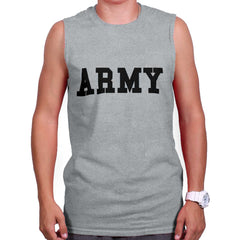 SportGrey|Army Logo Sleeveless T-Shirt|Tactical Tees