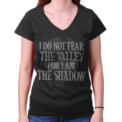 Black|I Am the Shadow Junior Fit V-Neck T-Shirt|Tactical Tees