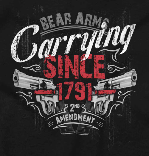 Black2|Carrying Since Junior Fit V-Neck T-Shirt|Tactical Tees