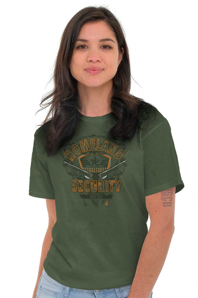 Female_MilitaryGreen2|Homeland Security T-Shirt|Tactical Tees