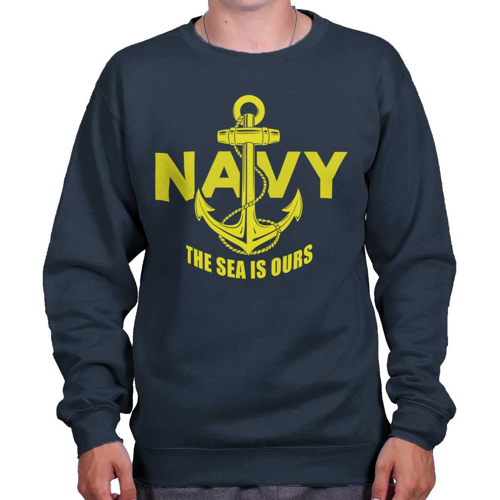 Navy|Sea is Ours Crewneck Sweatshirt|Tactical Tees