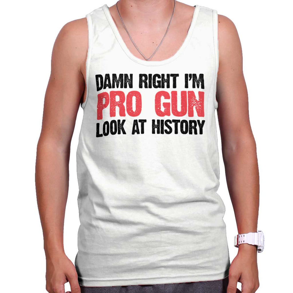 White|Pro Gun Tank Top|Tactical Tees