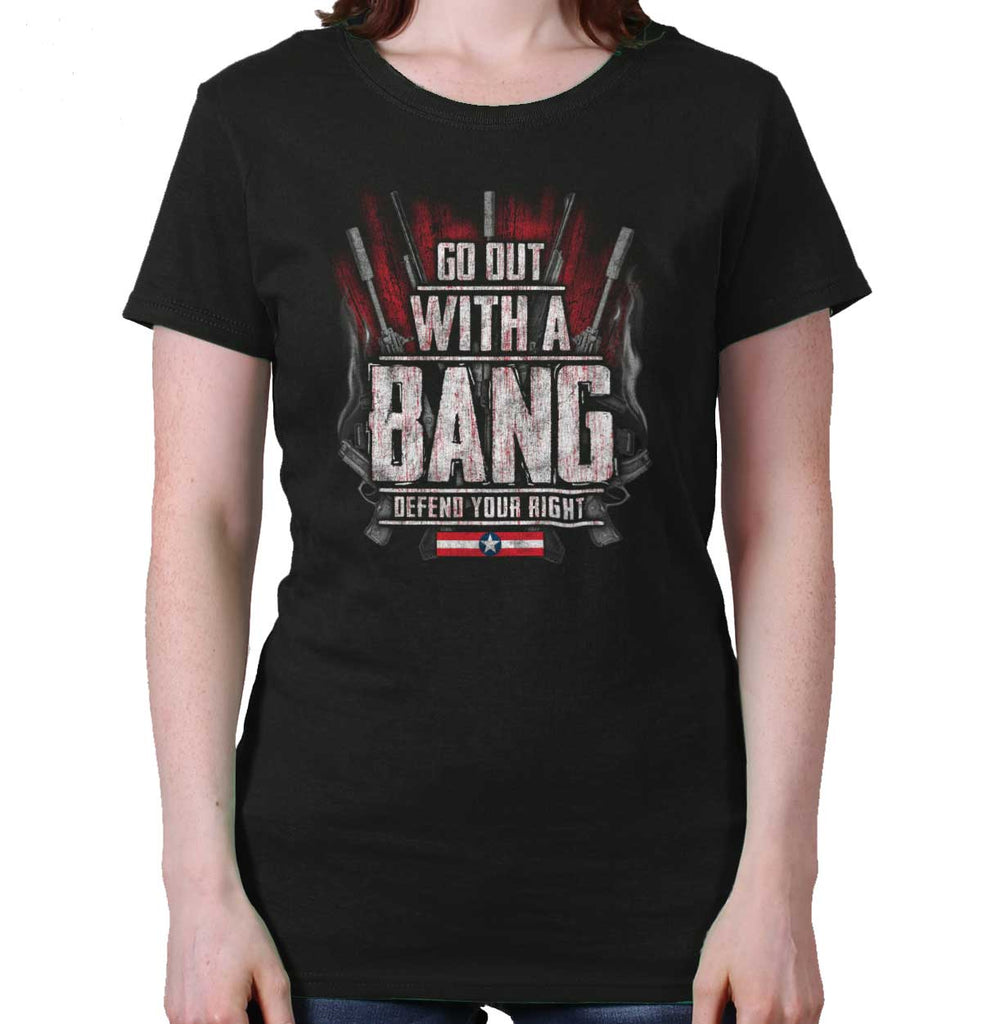 Black|Go Out With A Bang Ladies T-Shirt|Tactical Tees