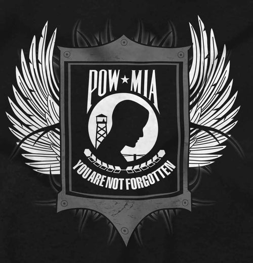 Black2|POW MIA You Are Not Forgotten Junior Fit V-Neck T-Shirt|Tactical Tees
