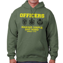 MilitaryGreen|Officers Hoodie|Tactical Tees