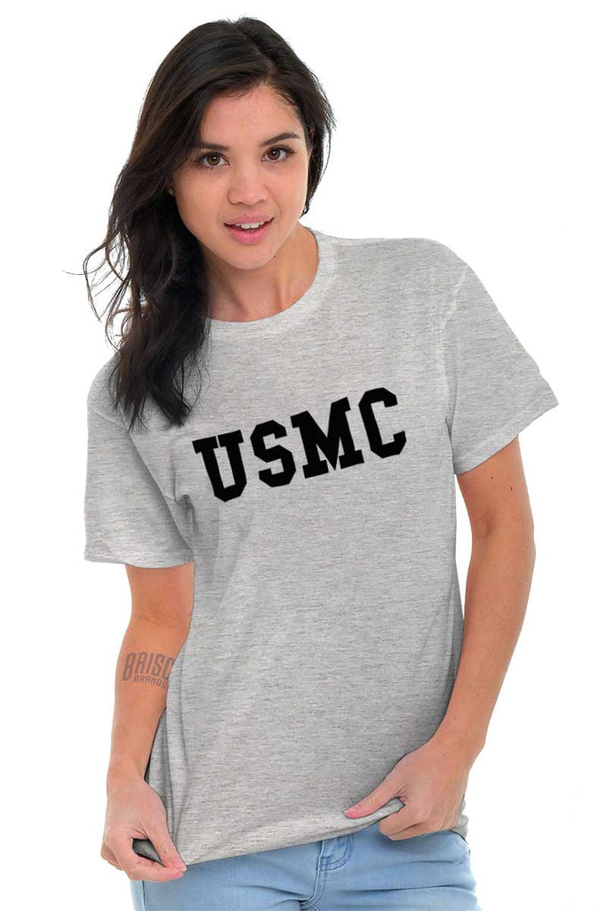 Female_SportGrey2|USMC Logo T-Shirt|Tactical Tees