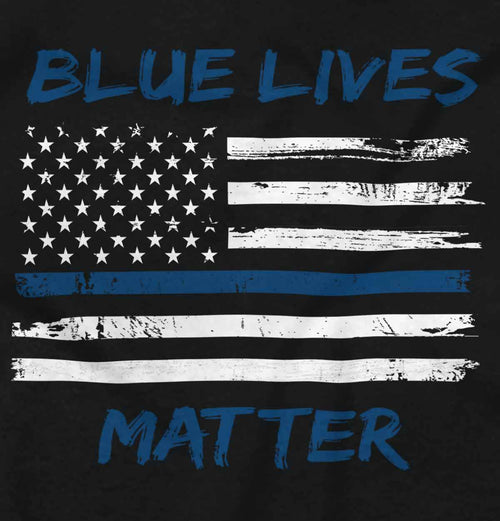Black2|Blue Lives Matter Horizontal Tank Top|Tactical Tees