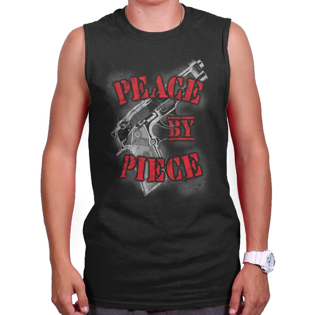 Black|Peace by Piece Sleeveless T-Shirt|Tactical Tees
