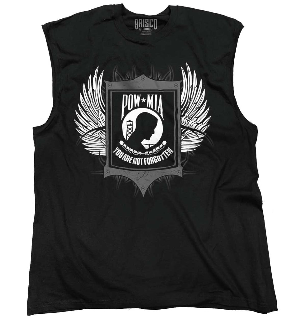 Black|POW MIA You Are Not Forgotten Sleeveless T-Shirt|Tactical Tees