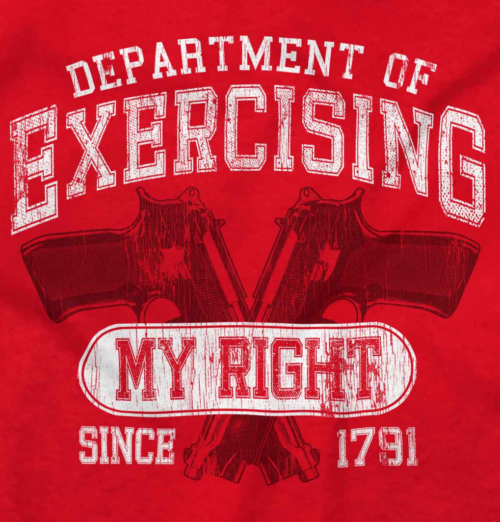Red2|DepartMalet of Exercising My Right Tank Top|Tactical Tees