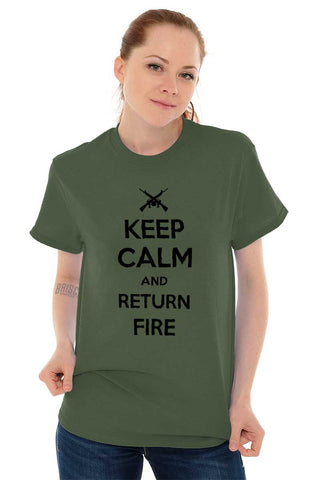 Male_MilitaryGreen1|Return Fire T-Shirt|Tactical Tees