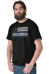 Male_Black1|Blue Lives Matter Flag T-Shirt|Tactical Tees