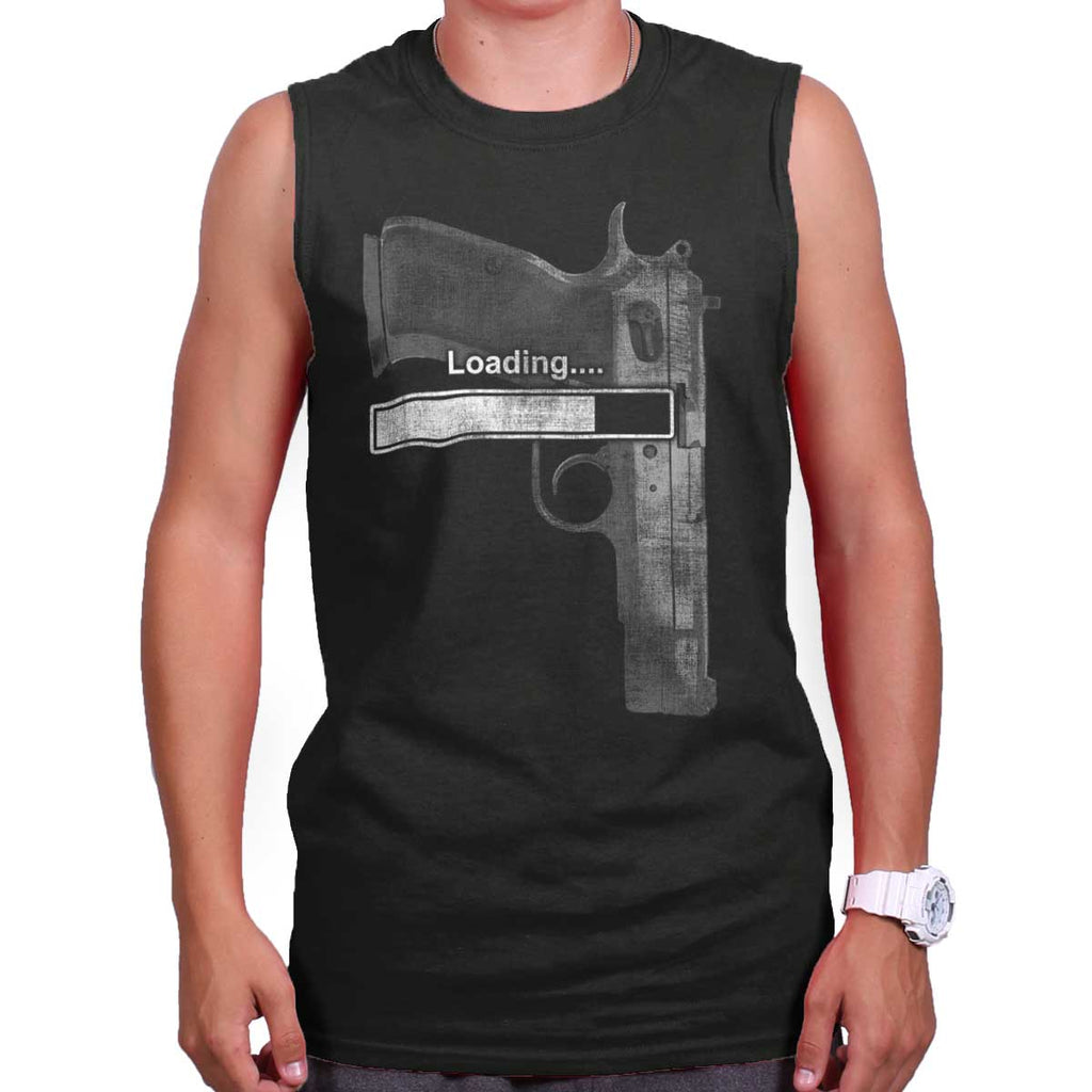 Black|Loading… Sleeveless T-Shirt|Tactical Tees