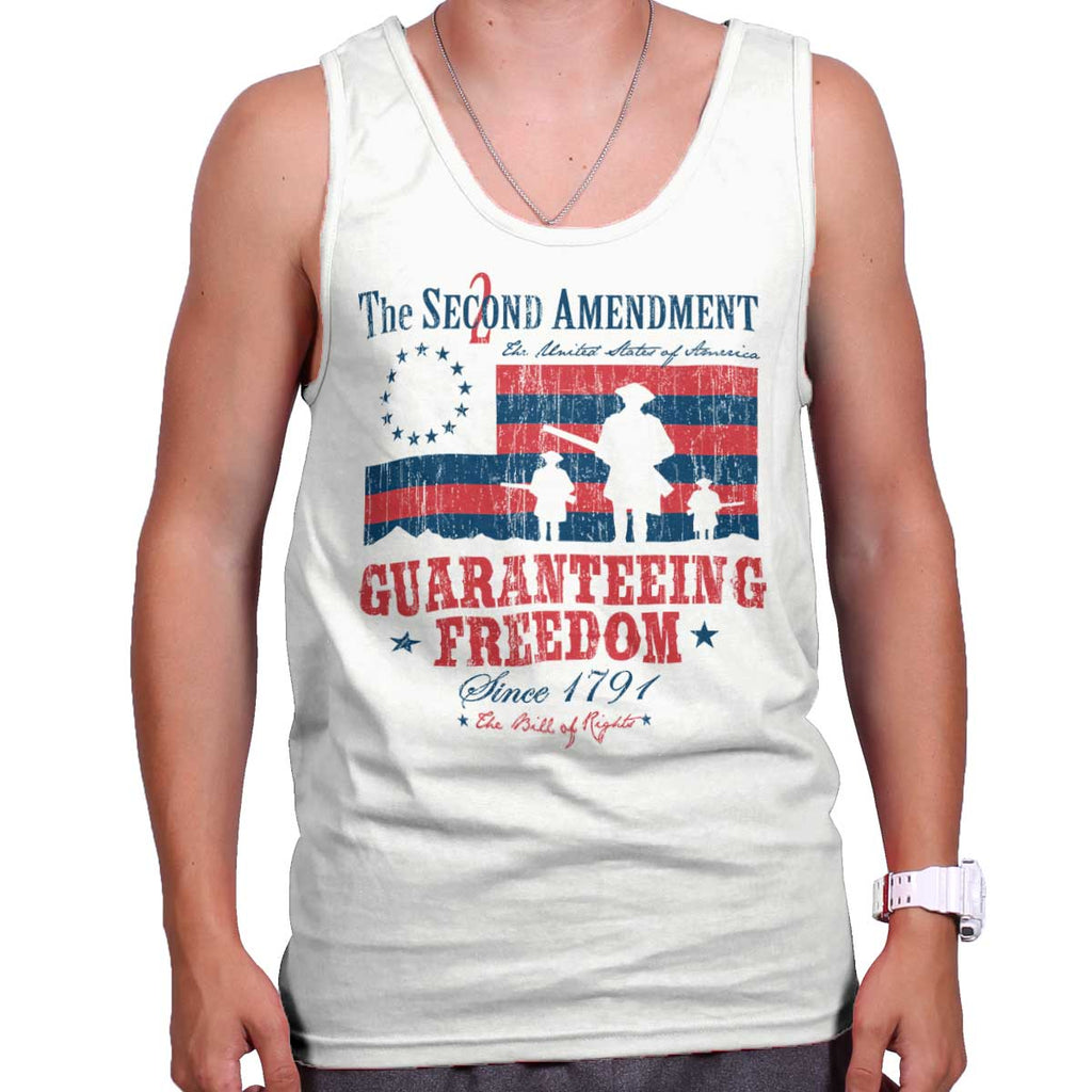 White|Guaranteeing Freedom Tank Top|Tactical Tees