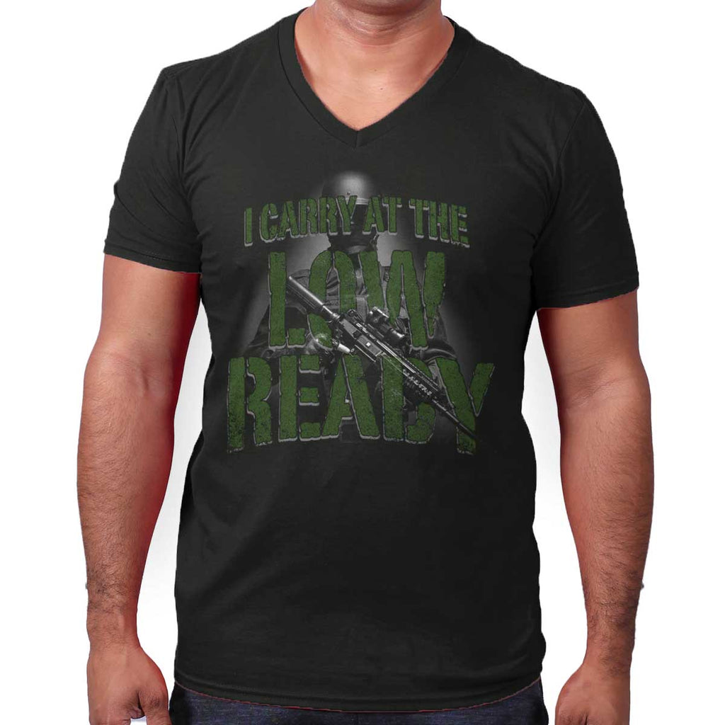 Black|Low Ready V-Neck T-Shirt|Tactical Tees