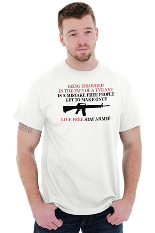 Male_White1|Live Free Stay Armed T-Shirt|Tactical Tees