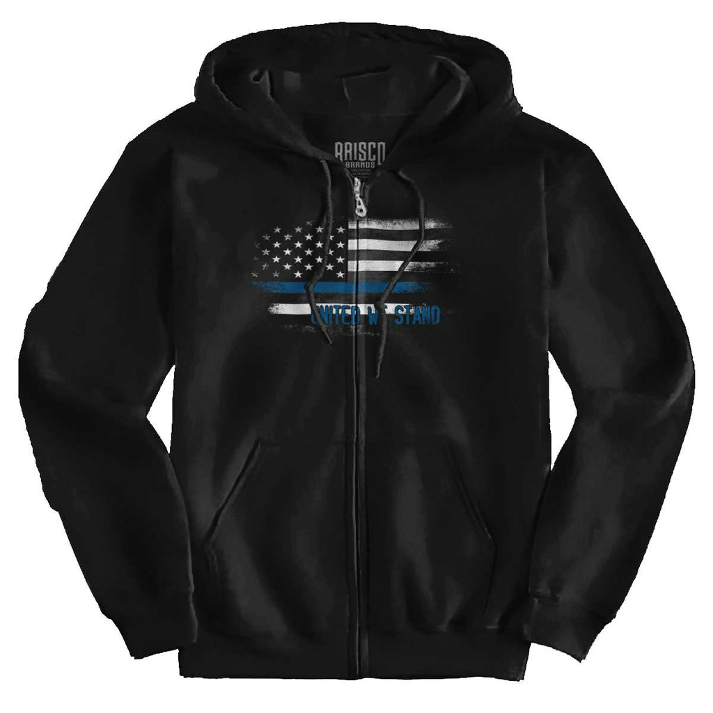 Black|Blue Lives Matter Fade Zip Hoodie|Tactical Tees