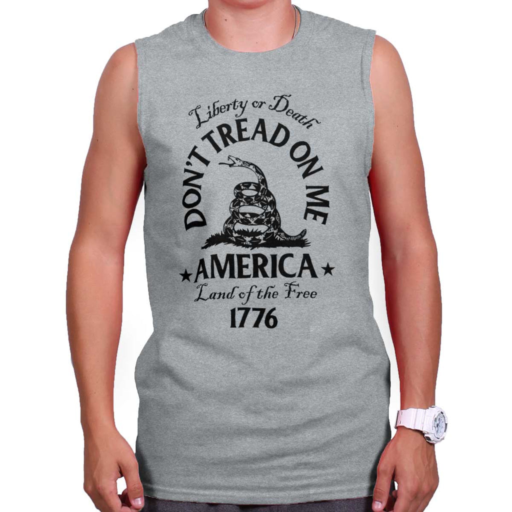 SportGrey|Dont Tread on Me Sleeveless T-Shirt|Tactical Tees