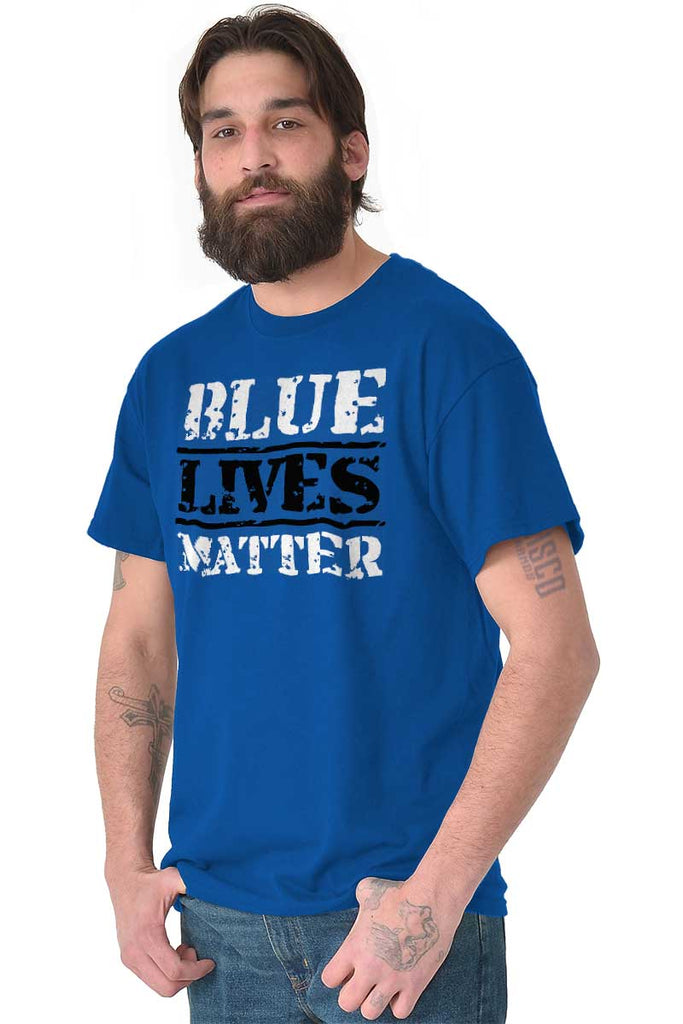 Male_Royal2|Blue Lives Matter Bold T-Shirt|Tactical Tees