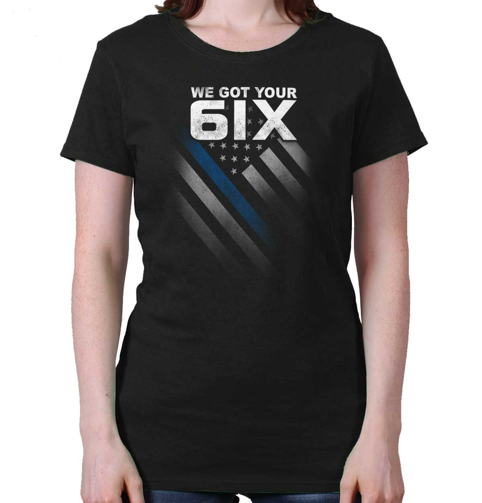 Black|Blue Lives Matter 6 Ladies T-Shirt|Tactical Tees