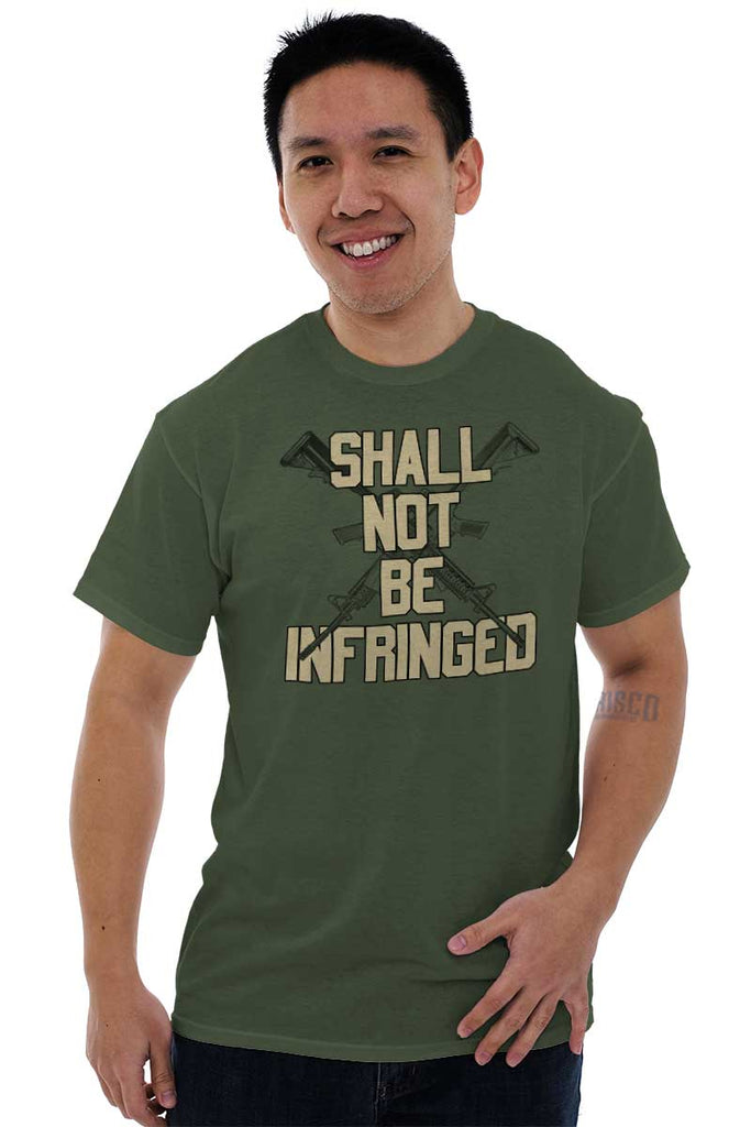 Male_MilitaryGreen1|Not Be Infringed T-Shirt|Tactical Tees