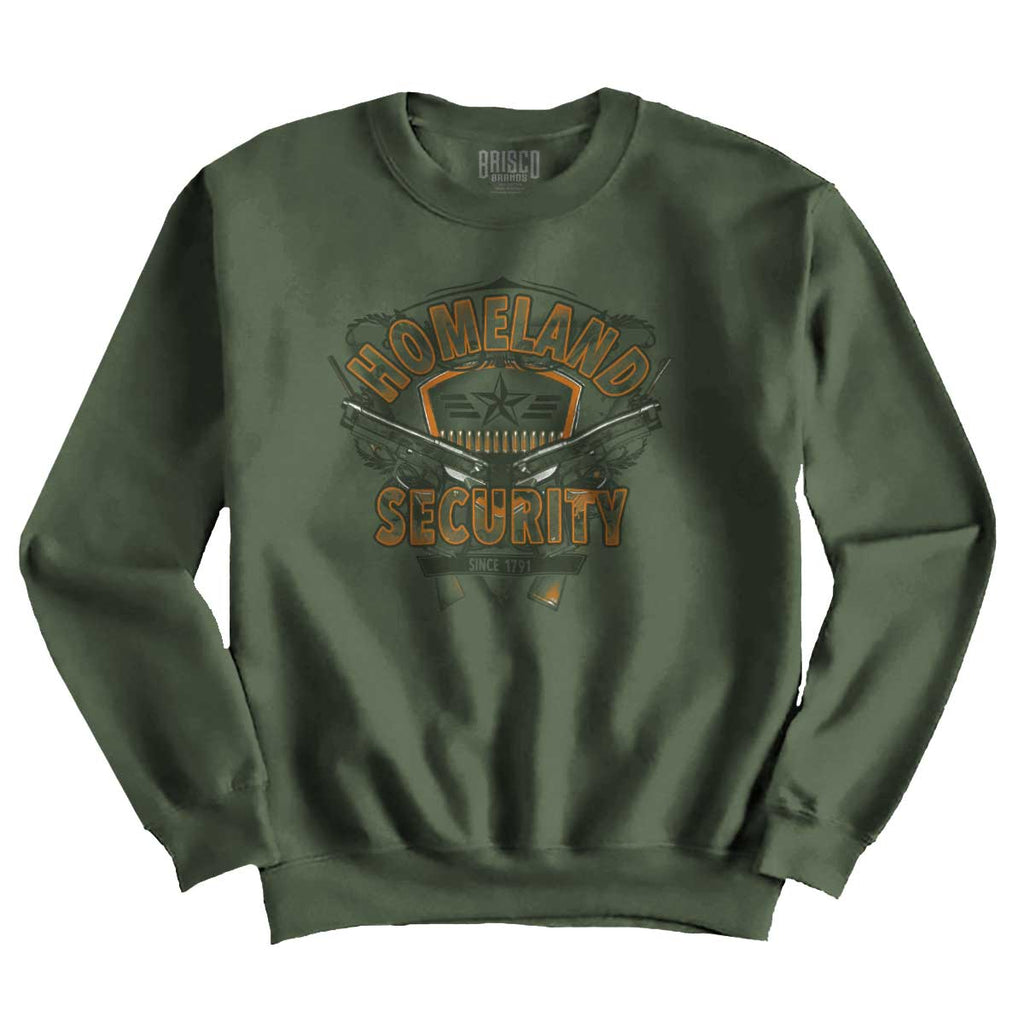 MilitaryGreen|Homeland Security Crewneck Sweatshirt|Tactical Tees