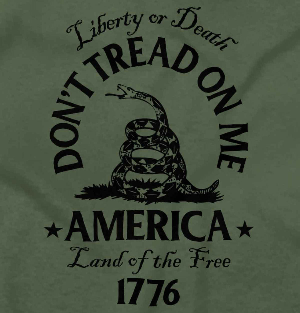 MilitaryGreen2|Dont Tread on Me Crewneck Sweatshirt|Tactical Tees