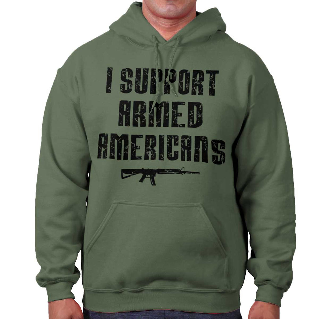 MilitaryGreen|Support Armed Americans Hoodie|Tactical Tees
