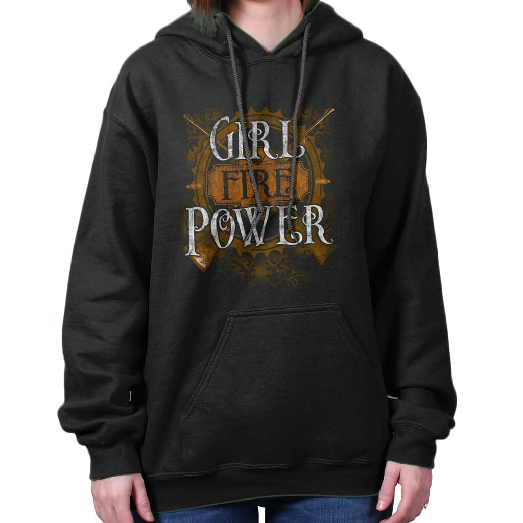 Black|Girl Fire Power Hoodie|Tactical Tees