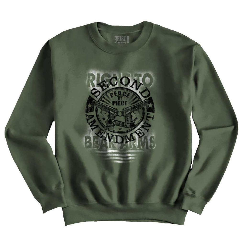 MilitaryGreen|Right To Bear Arms  AMaledMalet Crewneck Sweatshirt|Tactical Tees