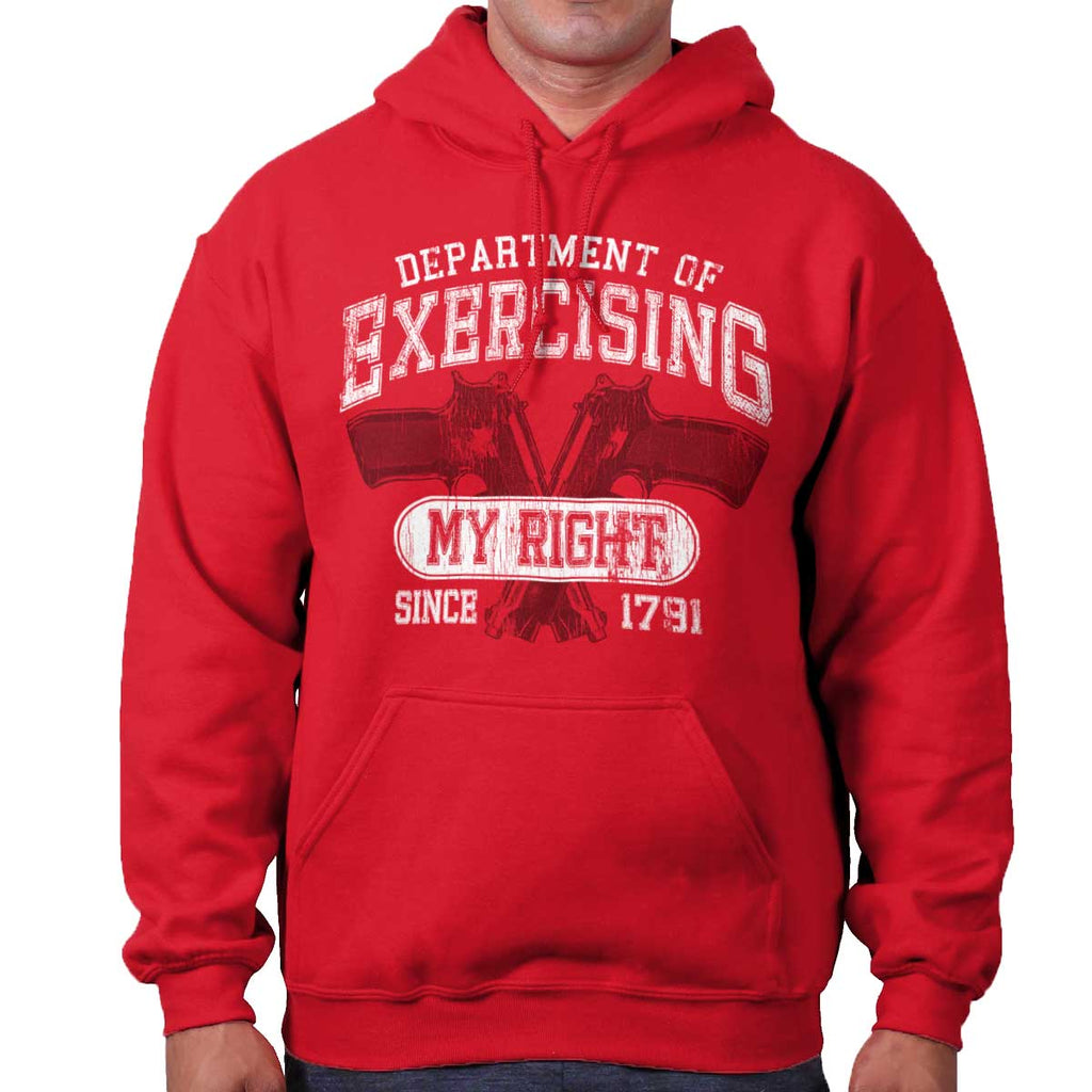 Red|DepartMalet of Exercising My Right Hoodie|Tactical Tees