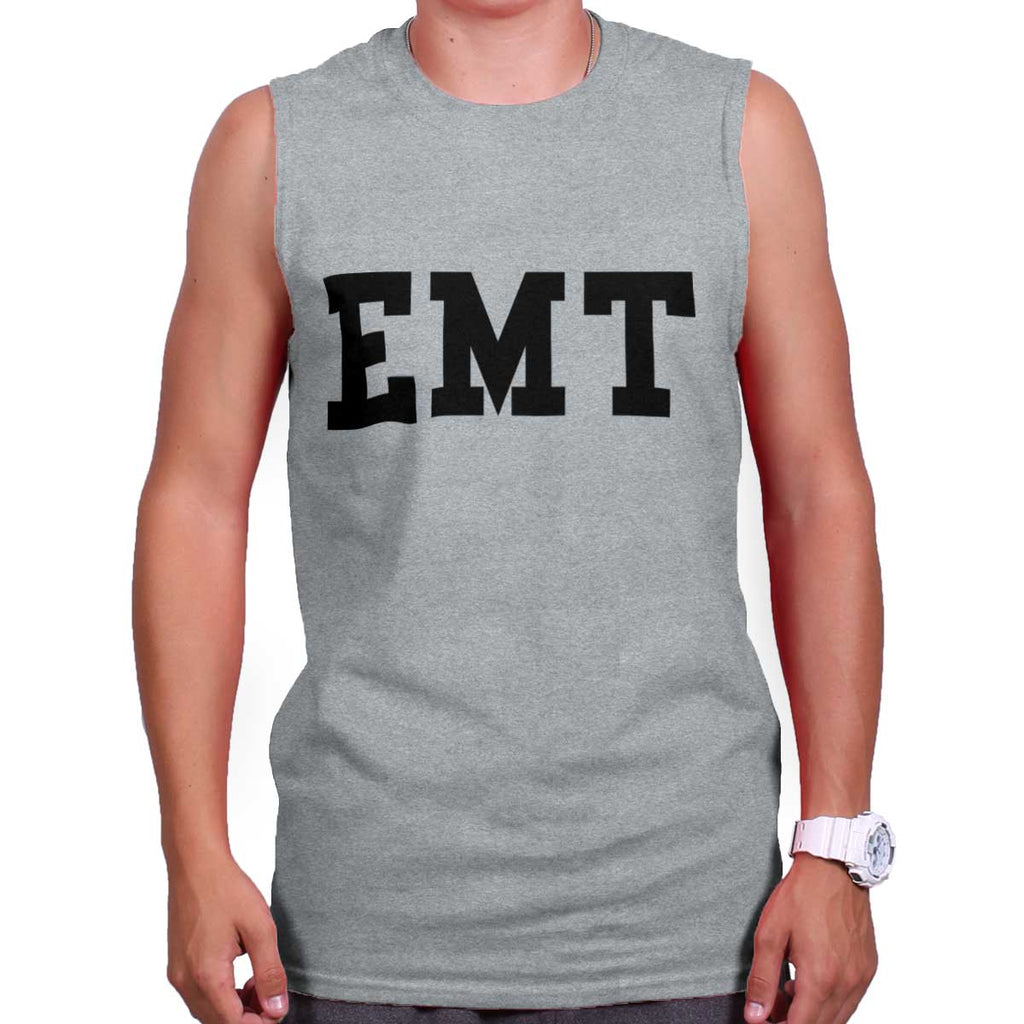 SportGrey|EMT Logo Sleeveless T-Shirt|Tactical Tees