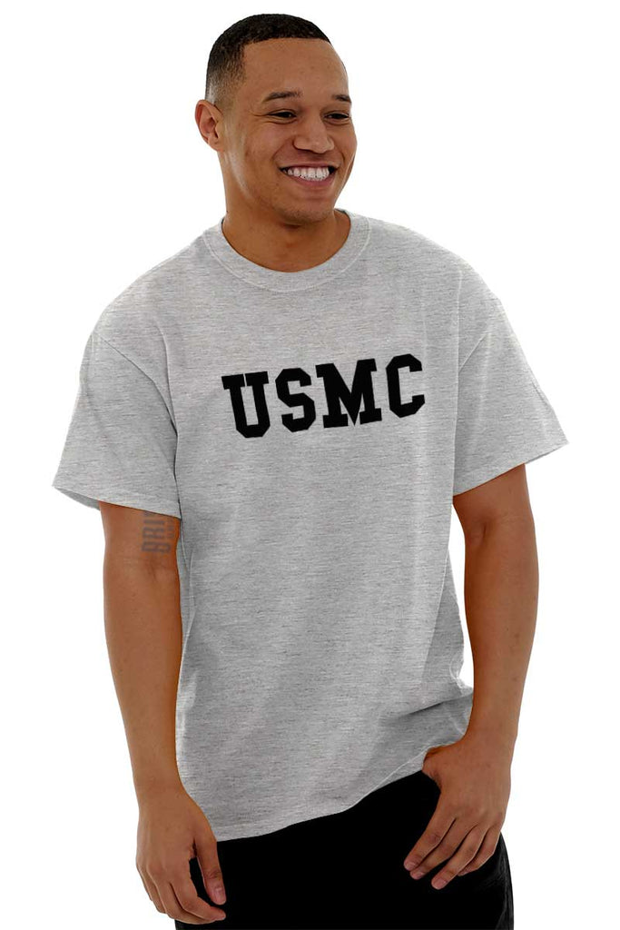 Male_SportGrey1|USMC Logo T-Shirt|Tactical Tees