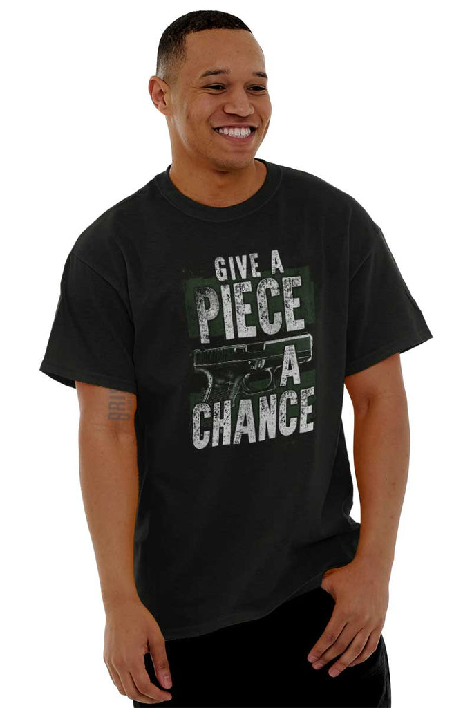 Male_Black1|Give Piece a Chance T-Shirt|Tactical Tees