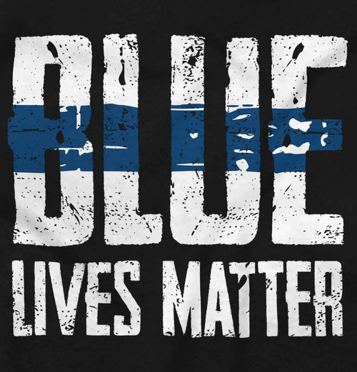 Black|Blue Lives Matter Line T-Shirt|Tactical Tees