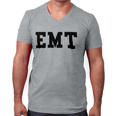 SportGrey|EMT Logo V-Neck T-Shirt|Tactical Tees