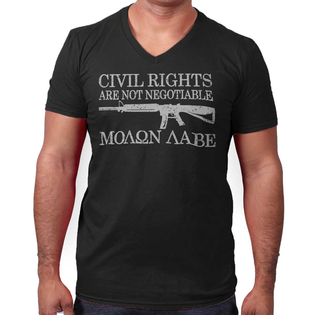 Black|Civil Rights V-Neck T-Shirt|Tactical Tees
