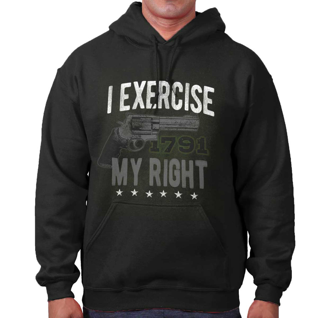Black|I exercise My Right Hoodie|Tactical Tees
