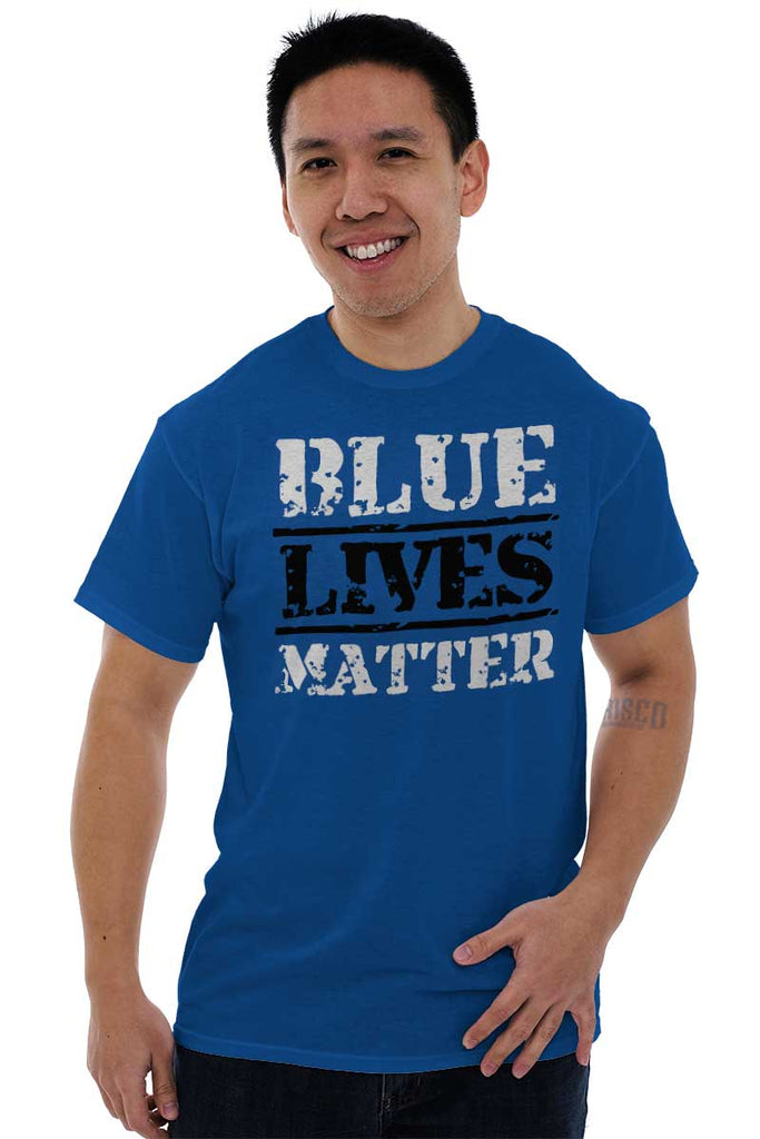 Male_Royal1|Blue Lives Matter Bold T-Shirt|Tactical Tees