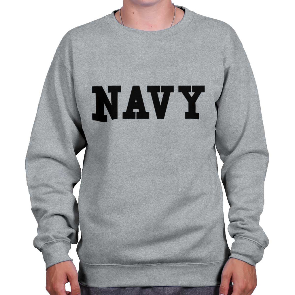 SportGrey|Navy Logo Crewneck Sweatshirt|Tactical Tees