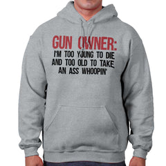 SportGrey|Gun Owner Too Young Hoodie|Tactical Tees