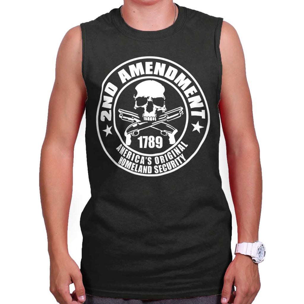 Black| Original Homeland Security Sleeveless T-Shirt|Tactical Tees