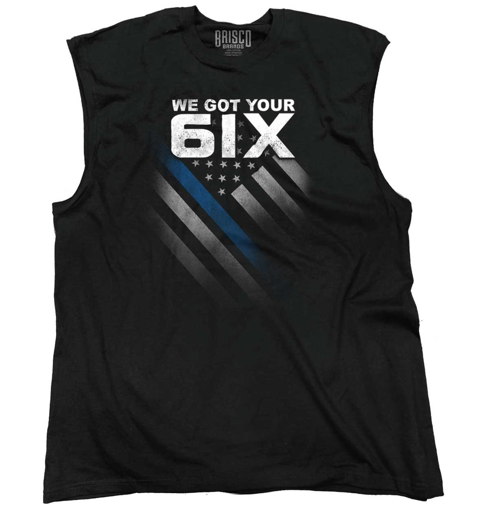Black|Blue Lives Matter 6 Sleeveless T-Shirt|Tactical Tees